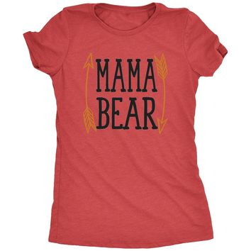 Mama Bear Arrow Design Women's Tri-Blend T-Shirt