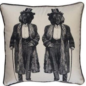 Gentlemen Bear Pillow