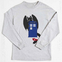 toothless dragon tardis how to train your dragon long sleeved on Size : S-3Xl , heppy new year in 2015.