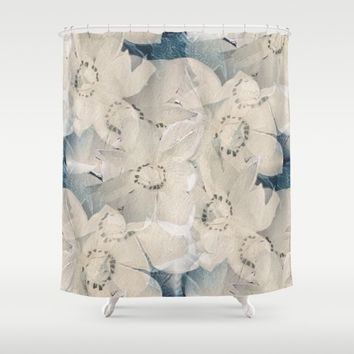 Winter Magnolias Shower Curtain by Veata
