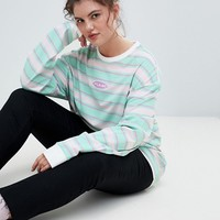 Puma Plus Exclusive Organic Cotton Stripe Long Sleeve T-Shirt at asos.com