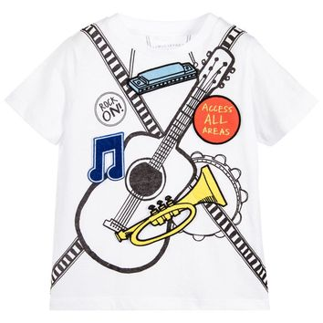 Stella McCartney Boys Musical Instrument T-shirt