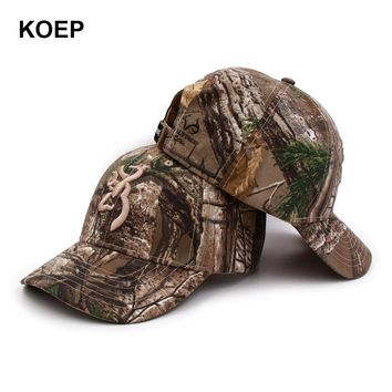 Trendy Winter Jacket KOEP Browning Camo Baseball Cap Fishing Caps Men Outdoor Hunting Camouflage Jungle Hat  Tactical Hiking Casquette Hats AT_92_12