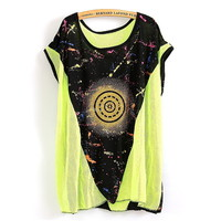 The Stars Reactor Mesh Loose T-shirt
