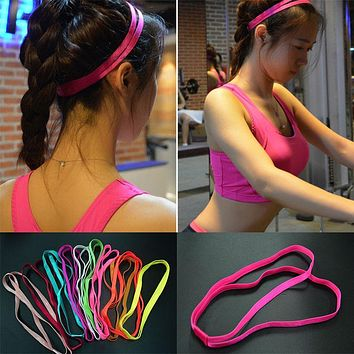 10 Colors Fashion Anti-Slip Double Bands Elastic Headband Women Girl Hairbands Headwear