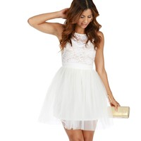 Dainty Ivory Lace Dress