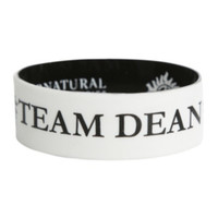 Supernatural Team Dean Sam Reversible Rubber Bracelet