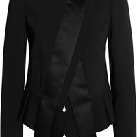 Just Cavalli Asymmetric crepe jacket – 60% at THE OUTNET.COM