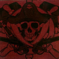 Halloween Canvas Wall Art  - Pirate Skull - Halloween decorations, Halloween wall art, pirate decor, Halloween decor, skull and crossbones