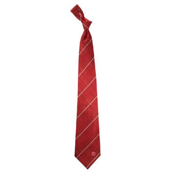 Nebraska Cornhuskers NCAA Oxford Woven Mens Tie