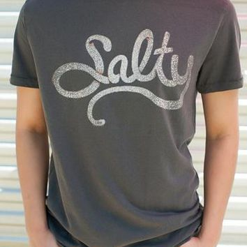 "Gina ""Salty"" Dark Grey Tee"