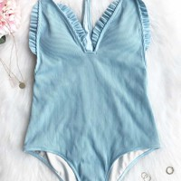 Cupshe First Love Textured One-piece Swimsuit