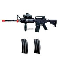 BBTac M83 Full Auto Electric Power Airsoft Gun LPEG/250 FPS/Red Dot Sight/Flash Light
