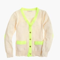 crewcuts Girls Neon-Trim Cardigan Sweater