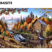 BAISITE Frameless DIY Oil Painting Pictures By Numbers On Canvas Wall Pictures Wall Art For Living Room Home Decoration C128