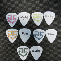 R5 band set of five guitar picks for necklace or collection FREE US SHIPPING