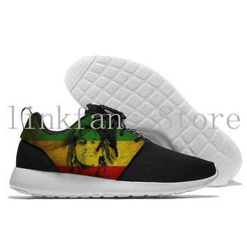 Man's and wuman's Reggae Star Bob Marley  Running Shoes  Anti-slip Outdoor Wear-Resistant Sport Sneakers