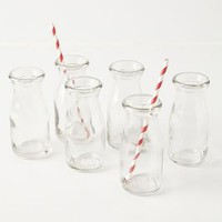 Glass Milk Bottles by Anthropologie Clear Set Of 6 House & Home