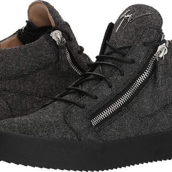 Giuseppe Zanotti Mens May London Glitter Mid Top Sneaker 28e2e3493e