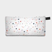 White Poppy Speckled Pencil Case Pouch