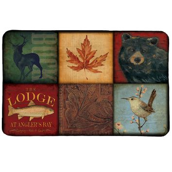 Lodge Patch Memory Foam Rug