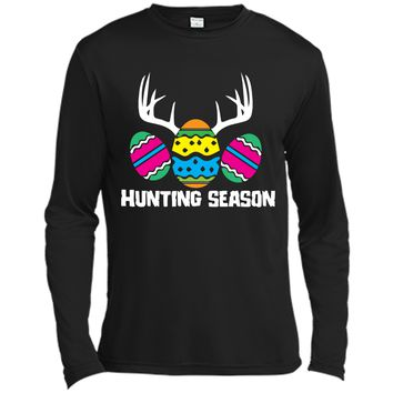 Hunting Season Funny Easter Eggs Deer Antlers T-Shirt Long Sleeve Moisture Absorbing Shirt