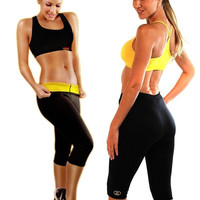 Summer Sports running trousers Neoprene slimming  self-heating Black Girl slimming pants body shapers = 1933201860