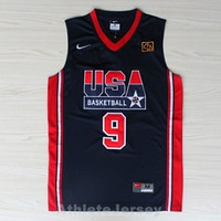 Michael Jordan 9 Dream Team USA NBA Basketball Jersey Michael Jordan Team Usa Olympic
