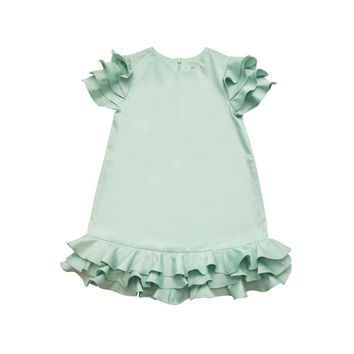 Moque Girls' Sydney Mint Green Dress