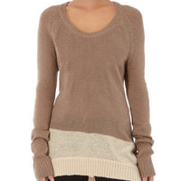 Camel dip hem jumper - Jumpers  - Clothing