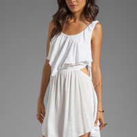 Indah Sky Flounce Cut Out Mini Dress in White from REVOLVEclothing.com