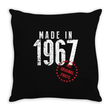 Made In 1967 All Original Parts Throw Pillow