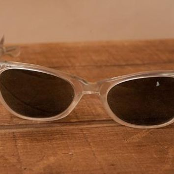 Vintage 1950's Pearl and Crystal Sunglasses