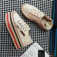 Latest Cheap GUCCI Women Fashion Casual Sneaker sport running white Shoes Best quality