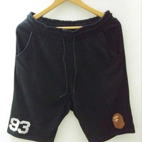 Men's Fashion Casual Pants Embroidery Men Cotton Shorts [10277046343]