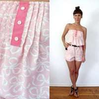 Baby Pink & Rose Bows Romper Xs Small Shorts