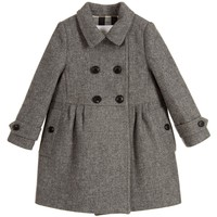 Grey Wool & Cashmere Coat