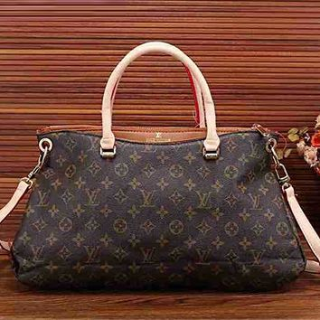 LV Louis Vuitton Women Fashion Shopping Bag Leather Satchel Shoulder Bag Crossbody