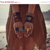 MEMORIAL DAY SALE Gypsy Steer Electroformed Ring /// Gold