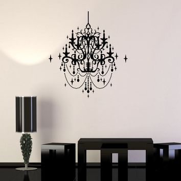 Wall Decal Vintage Chandelier Decor Lighting Decoration Vinyl Stickers Unique Gift (ig2845)