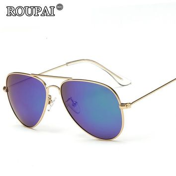 ROUPAI Brand 2017 New Fashion Kids Polarized Sunglasses Boys Girls Kids Baby Child Cool Aviator Sun Glasses Infant oculos