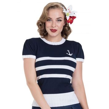 Nautical Striped Anchor Sweater