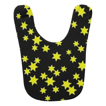 Yellow Stars Baby Bib