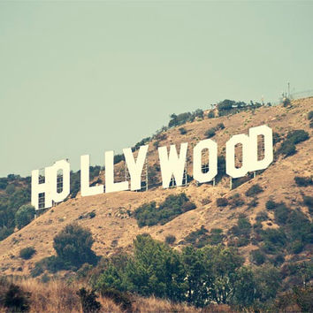 Hollywood Photography, Hollywood Sign, Los Angeles, California, Iconic Landmark, Travel Photograph, Mint Summer