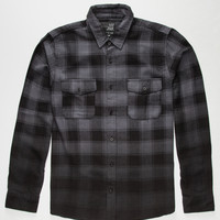 Blue Crown Dip Mens Flannel Shirt Charcoal  In Sizes