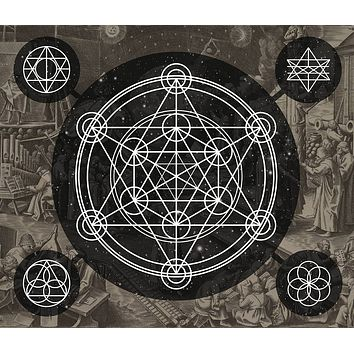 Sacred Geometry Tapestry Geometric Tapestry Wall Hanging