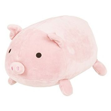 LivHeart Marshmallow Cocon Bolster Cushion Pig