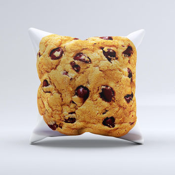 Chocolate Chip Cookie Ink-Fuzed Decorative Throw Pillow