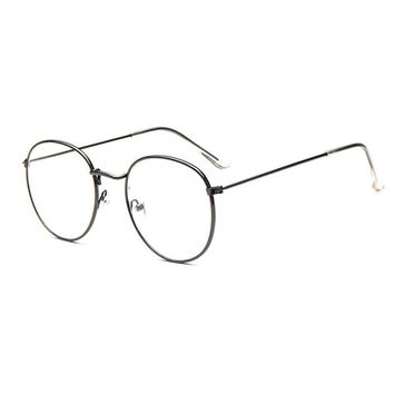... Vintage Retro Eye Glasses Frames For Women Men Big Round Frames
