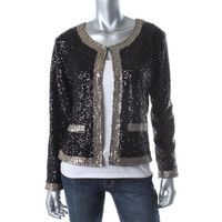 Lovers + Friends Womens Sequined Long Sleeves Blazer